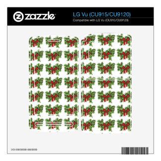 Mistletoe Pattern Decals For LG Vu