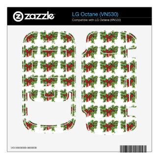 Mistletoe Pattern Decals For LG Octane