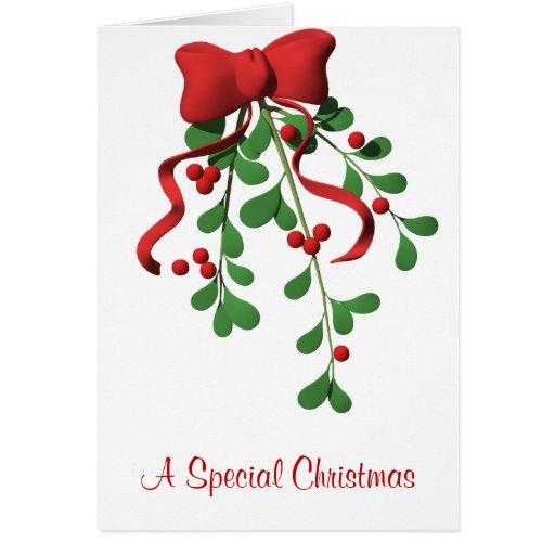 Mistletoe Personalized  Christmas Greeting Cards