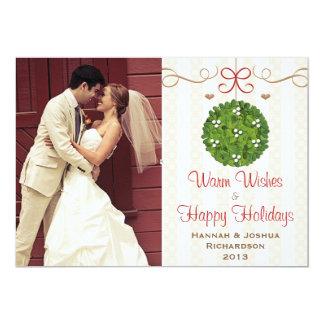 Mistletoe Photo Christmas Card Announcements