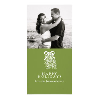 Mistletoe Photo Greeting Card