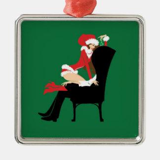 Mistletoe Premium Square Ornament