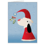 Mistletoe Pup Greeting Card