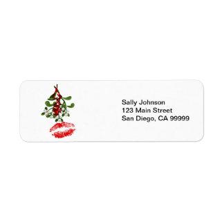 Mistletoe & Red Lipstick Kiss Labels