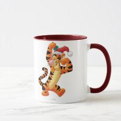 Combo Mug with Santa Tigger with Mistletoe design