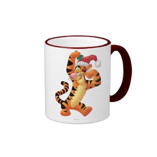 Mistletoe Tigger Coffee Mugs
