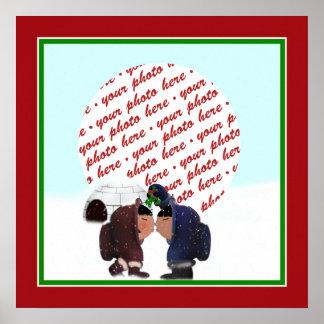 Mistletoe Time! Photo Frame Poster