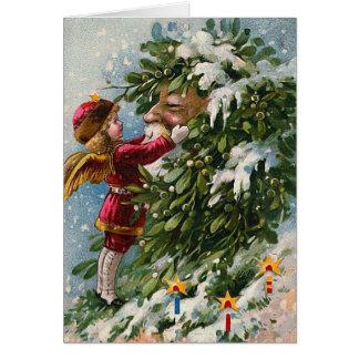 """""""Mistletoe"""" Vintage Christmas Card"""
