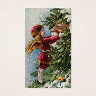 """""""Mistletoe"""" Vintage Christmas Gift Tag"""
