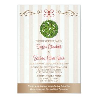 Mistletoe Wedding Invitations
