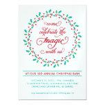 Mistletoe Wreath Holiday Party Invitation