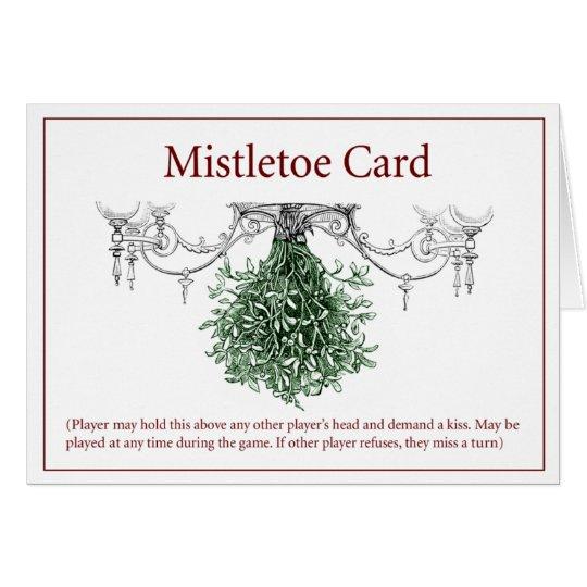 Mistletoe Yuletide Card