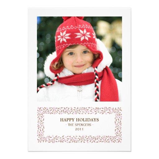 Mistletoed Christmas Photo Holiday Card Announcement