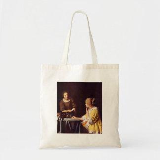 Mistress and maid by Johannes Vermeer Canvas Bag