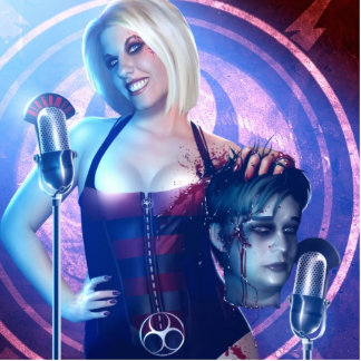 Mistress Barbie and Primal Root Standup Photo Statuette
