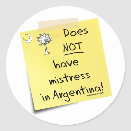 mistress in Argentina Classic Round Sticker