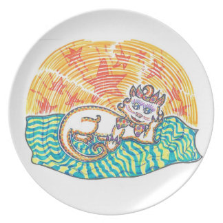Mistress Marshmallow the Pampered Pussycat Dinner Plate