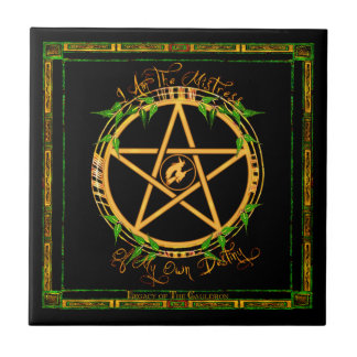 Mistress of Destiny Pentacle Ceramic Altar Tile