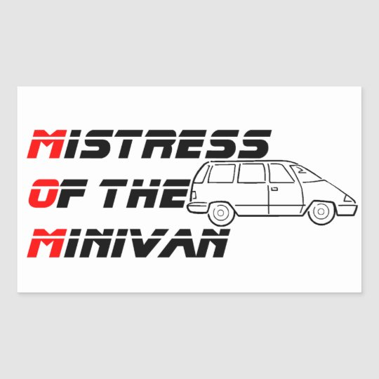 Mistress of the Minivan Bumper Sticker