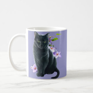 Misty and flowers coffee mug