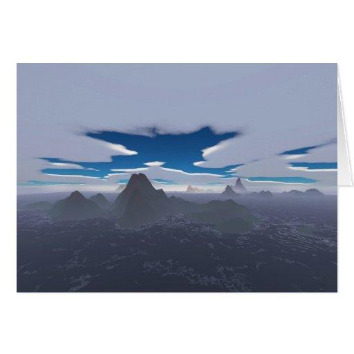 Misty archipelago greeting card
