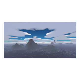 Misty archipelago photo card