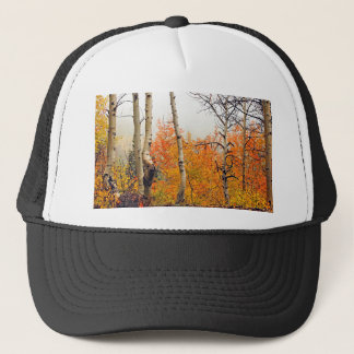 Misty Autumn Aspen Trucker Hat