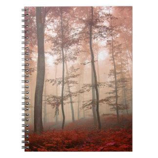 Misty Autumn Forest Notebook