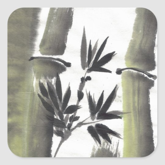 Misty Bamboo Art Stickers
