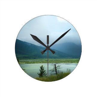 Misty Banff Round Clock
