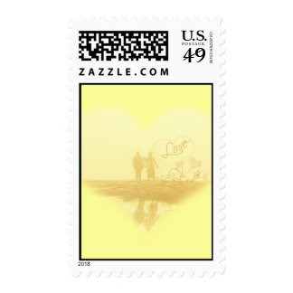 Misty Beach Wedding T-shirts, Cards, Magnets Postage Stamp