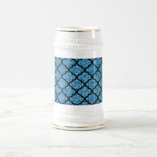 Misty blue glitter moroccan mug