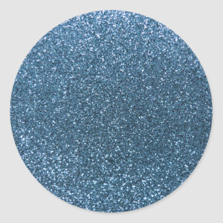 Misty blue glitter stickers