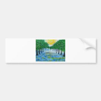 Misty Blue Meadow Bumper Sticker