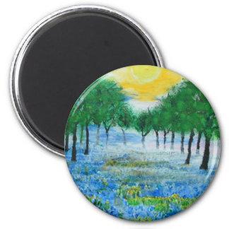 Misty Blue Meadow Magnet