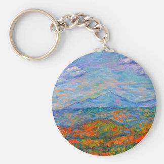 Misty Blue Ridge Autumn Keychain