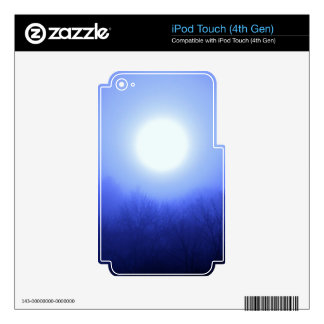 Misty Blue Sunrise Decal For iPod Touch 4G
