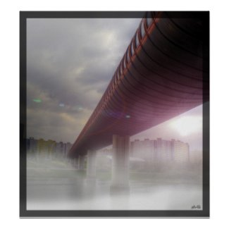Misty Bridge Print