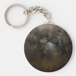 Misty Cottonwoods Keychain