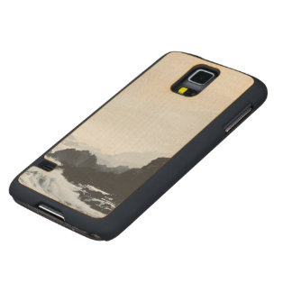 Misty Crashing waves Carved Maple Galaxy S5 Case