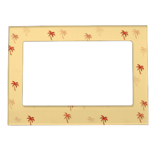 Misty Cream Palm Trees Magnetic Picture Frames