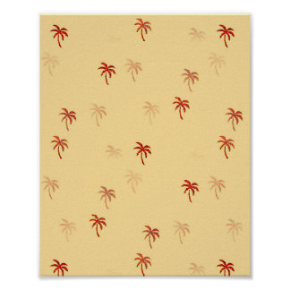 Misty Cream Palm Trees Poster