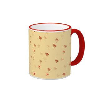 Misty Cream Palm Trees Ringer Mug