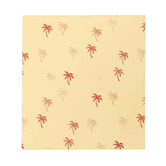 Misty Cream Palm Trees Scratch Pads