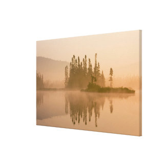 Misty dawn on East Inlet, Pittsburg, New Canvas Print