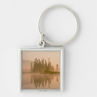 Misty dawn on East Inlet, Pittsburg, New Keychain