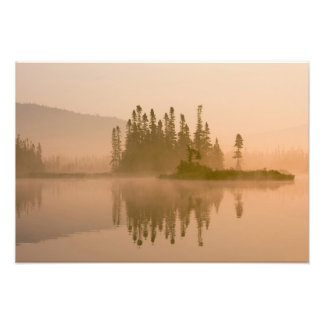 Misty dawn on East Inlet, Pittsburg, New Photo Print