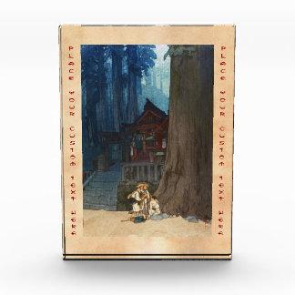 Misty day in Nikko Hiroshi Yoshida woodblock art Acrylic Award