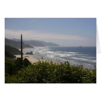 Misty Day on The Oregon Coast Card