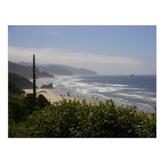 Misty Day on The Oregon Coast Postcard